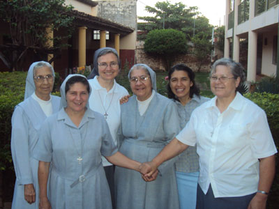 Concepcion. Visit of Sr. Marija in Paraguay. With the community.