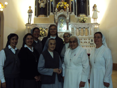Asuncion. Visit of Sr. Marija in Paraguay. With the community.