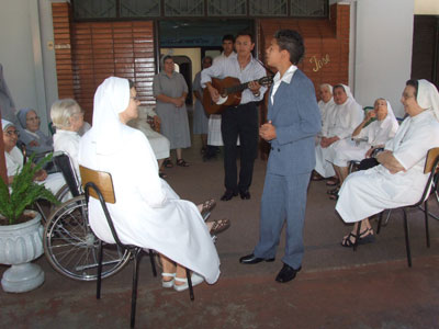 San Jose. Visit of Sr. Marija in Paraguay. Official reception in the province.