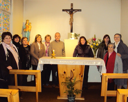 San Isidro,gestione laicale, con l'equip directivo