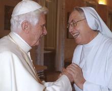 Carta de gratitud de Madre Yvonne al Papa Benedicto XVI